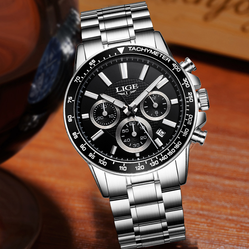 Lg12 lige classic chronograph retail bd for Lige watches