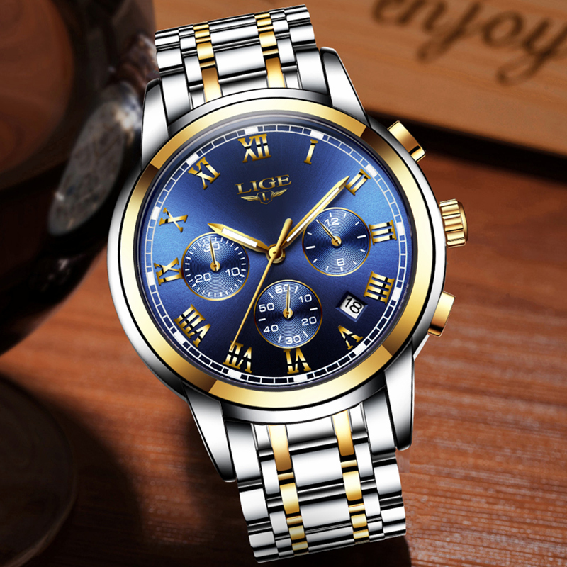 Lg11 lige royal blue retail bd for Watches for men