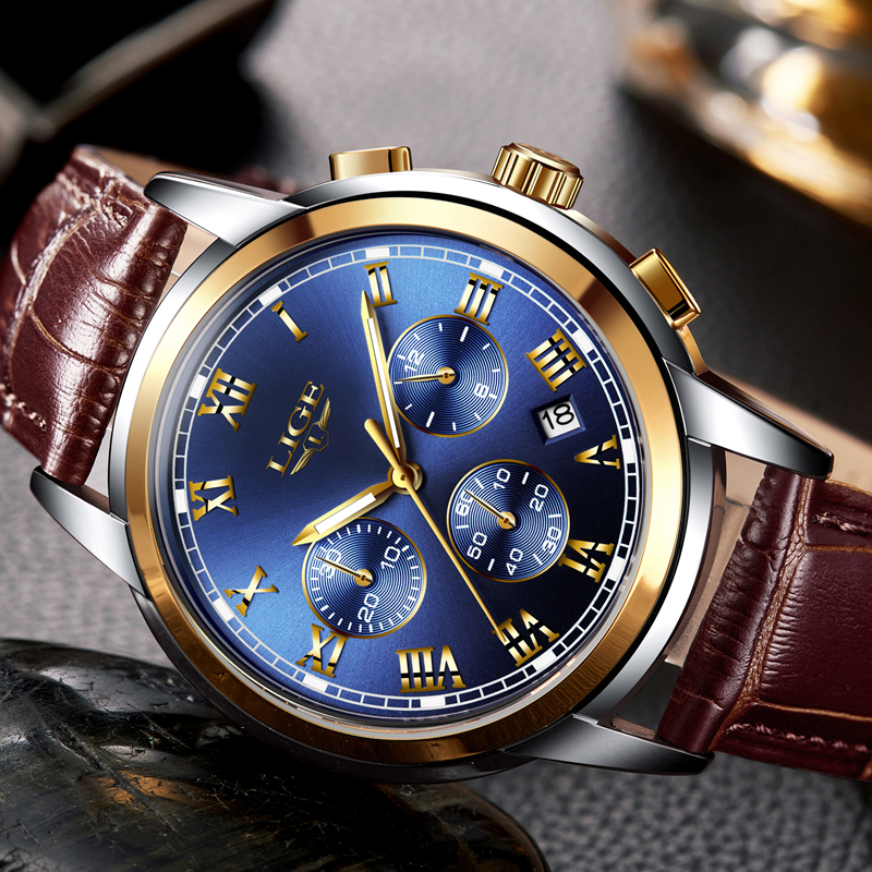Lg42 lige royal blue retail bd for Lige watches