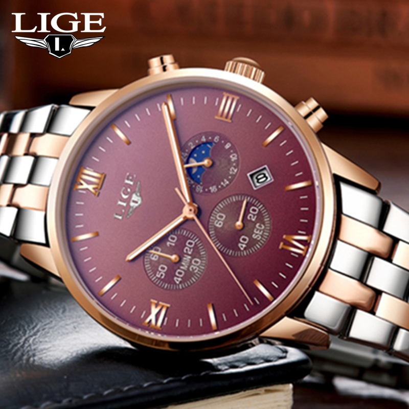 Lg21r lige executive chrono retail bd for Lige watches
