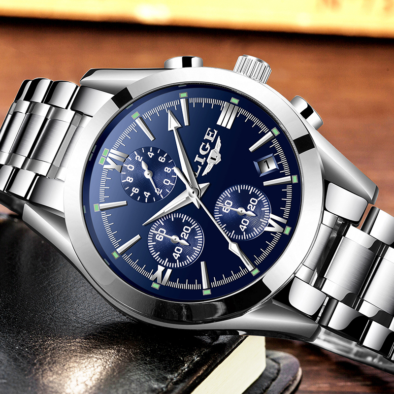 Lg37e lige chronograph watch retail bd for Lige watches