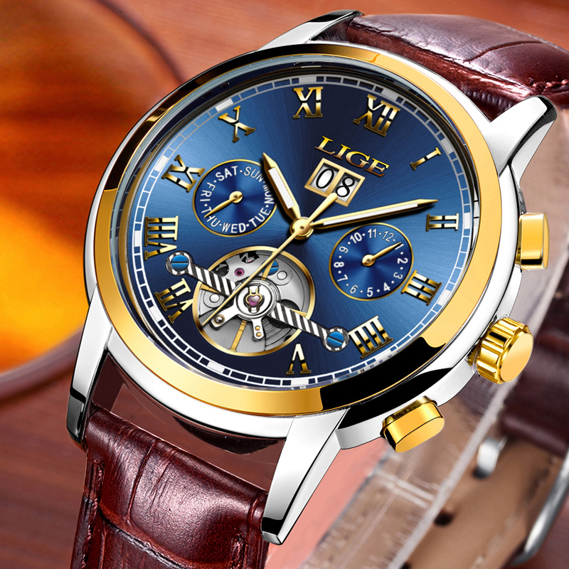 Lga4 lige automatic watch for men retail bd for Lige watches