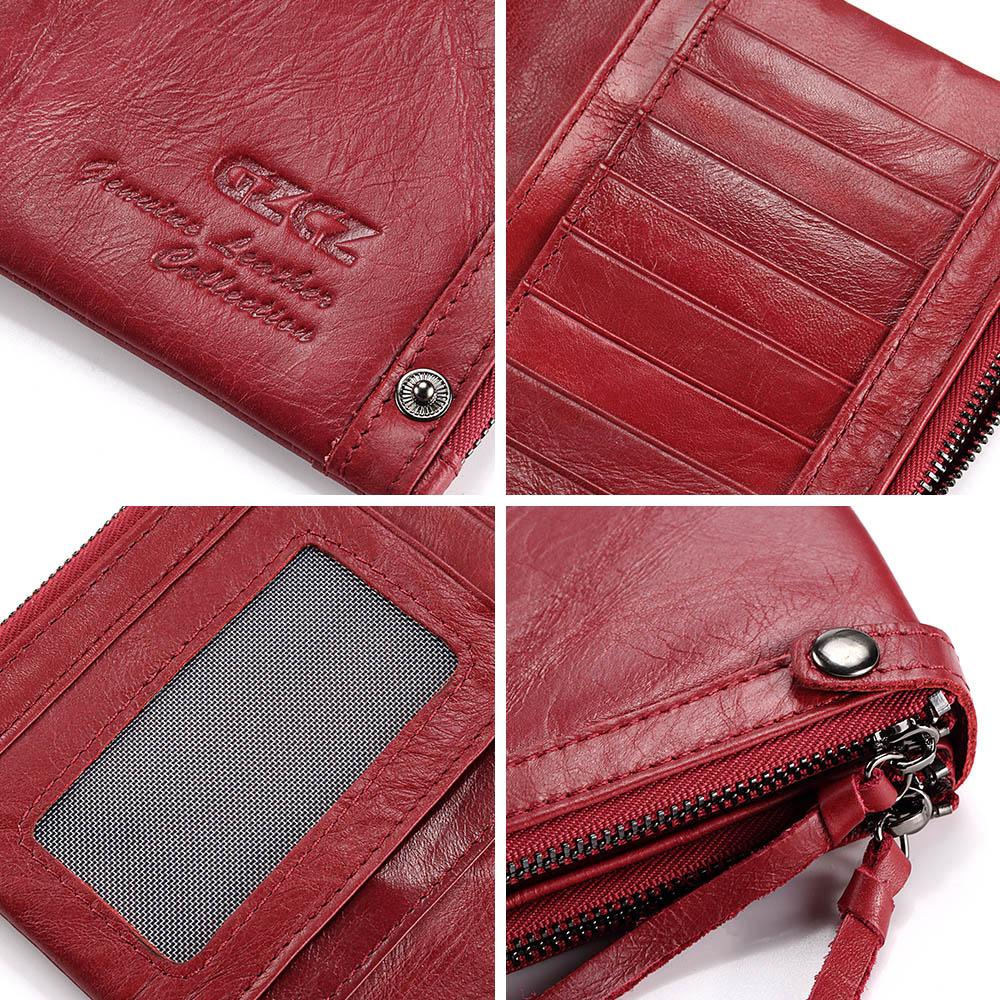 b75d60e9bf29 WA71R GZCZ Genuine Leather Long Woman Wallet