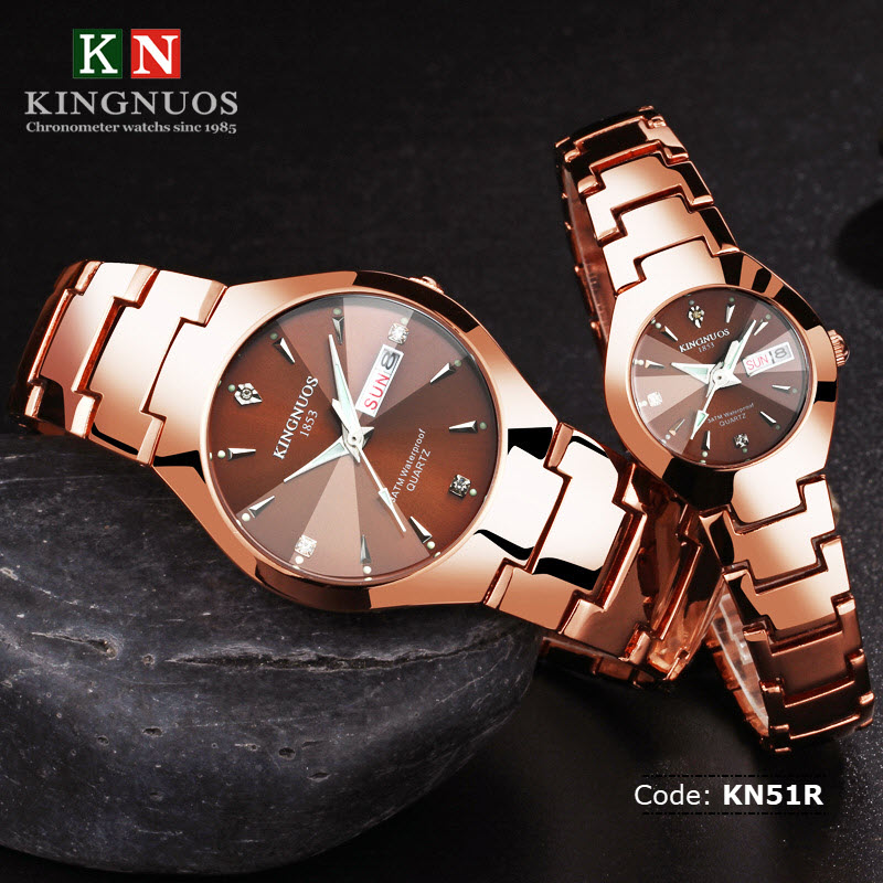 Kn51r kingnuos couple watch retail bd for Kingnuos watch