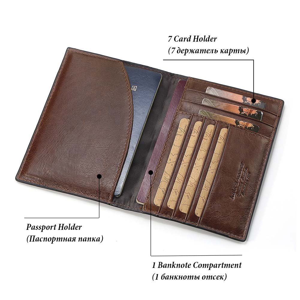 b6d6d6761 WA26C GZCZ Genuine Leather Passport and Card Holder - RetailBD
