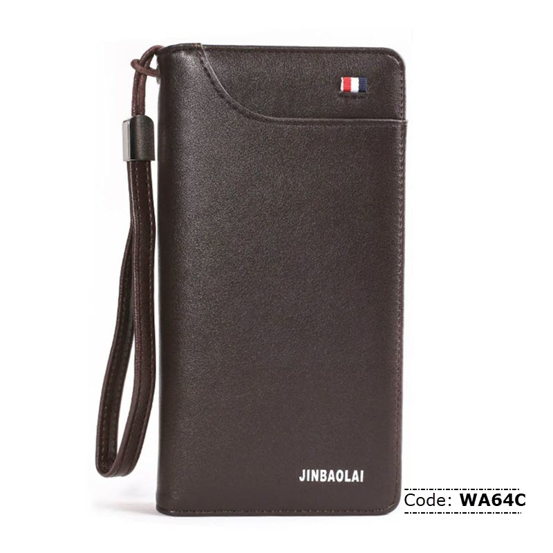 c2a65b9c WA64C JINBAOLAI Leather Mobile Phone and Card Holder For Men