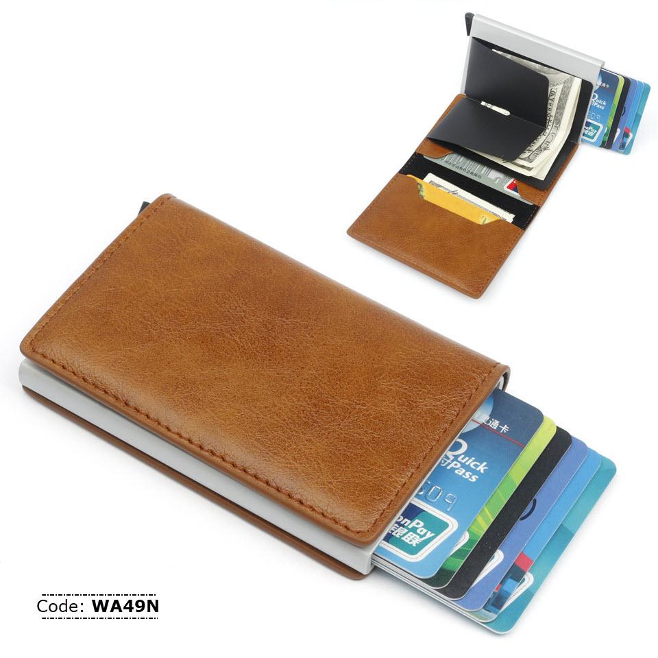 timeless design 0bcf7 bf798 WA49N Slim Aluminum Credit Card Holder Wallet